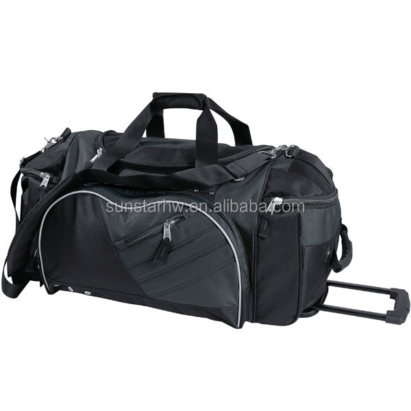 unique 600D polyester promotional trolley travel bag