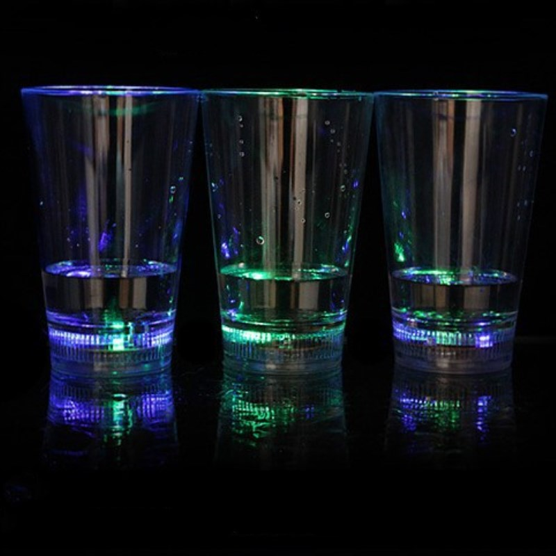 High quality Quality Party Decoration Barware LED Flashing Clear Plastic beer Cups