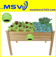 Solid Wooden Raised Vegetable Garden Bed Elevated Planter Kit Grow Gardening Box