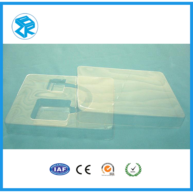 Brand new mobile case blister packaging black plastic plant tray rectangular plastic tray with high quality