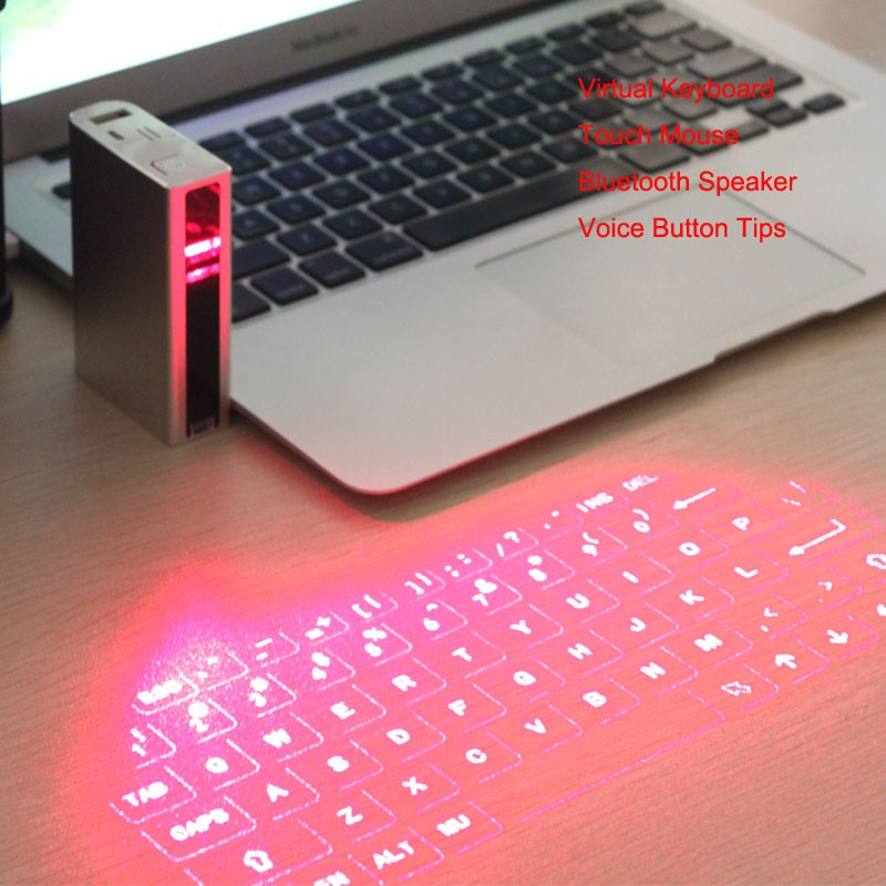 F3 Virtual Laser Projection Keyboard and Mouse Bluetooth Wireless Speaker for iPhone for iPad for Smartphone