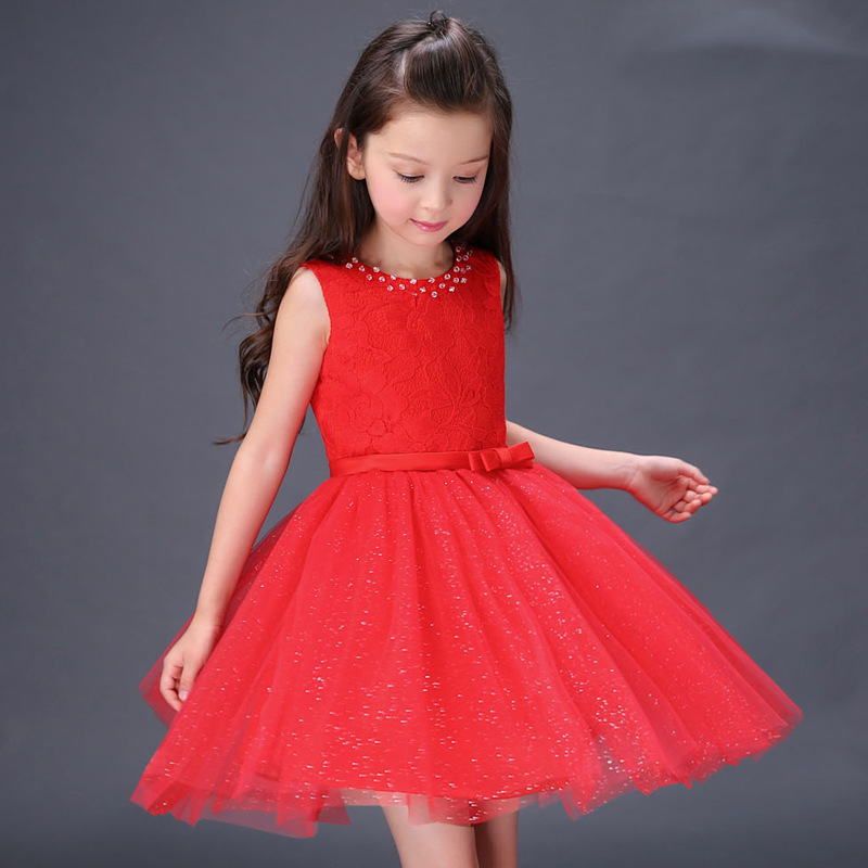 2017 new Cute Children Girl White Princess Dress XML-Q0073