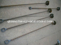 Drop Forged Galvanized Steel Ground Fork End guy anchor Rod
