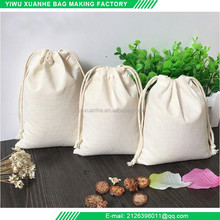 Eco friendly cotton muslin drawstring bag from Alibaba online shopping