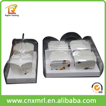 Rigid clear plastic cupcake box packaging, disposable plastic cake container box