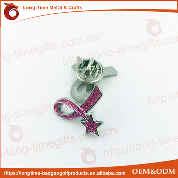 AIDS sign and ribbon metal pin
