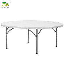"NF-Y183 Fold-in-half 72"" Round Heavy Duty White Granite Plastic Folding Table"
