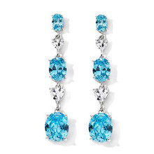 Absolute aquamarine earrings brass dangling earrings