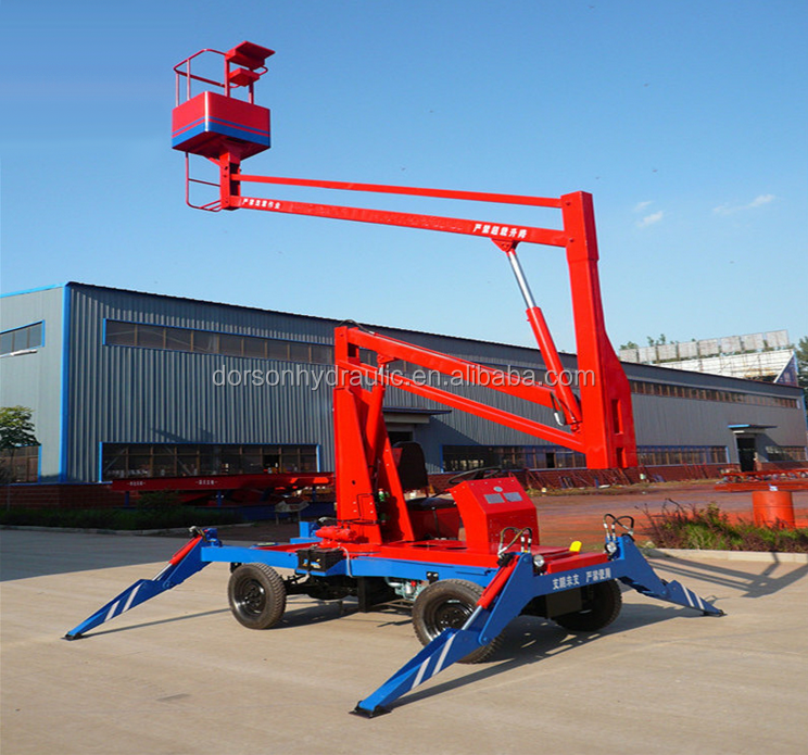 china cherry picker,new 14m aerial work platform self propelled articulated boom lift