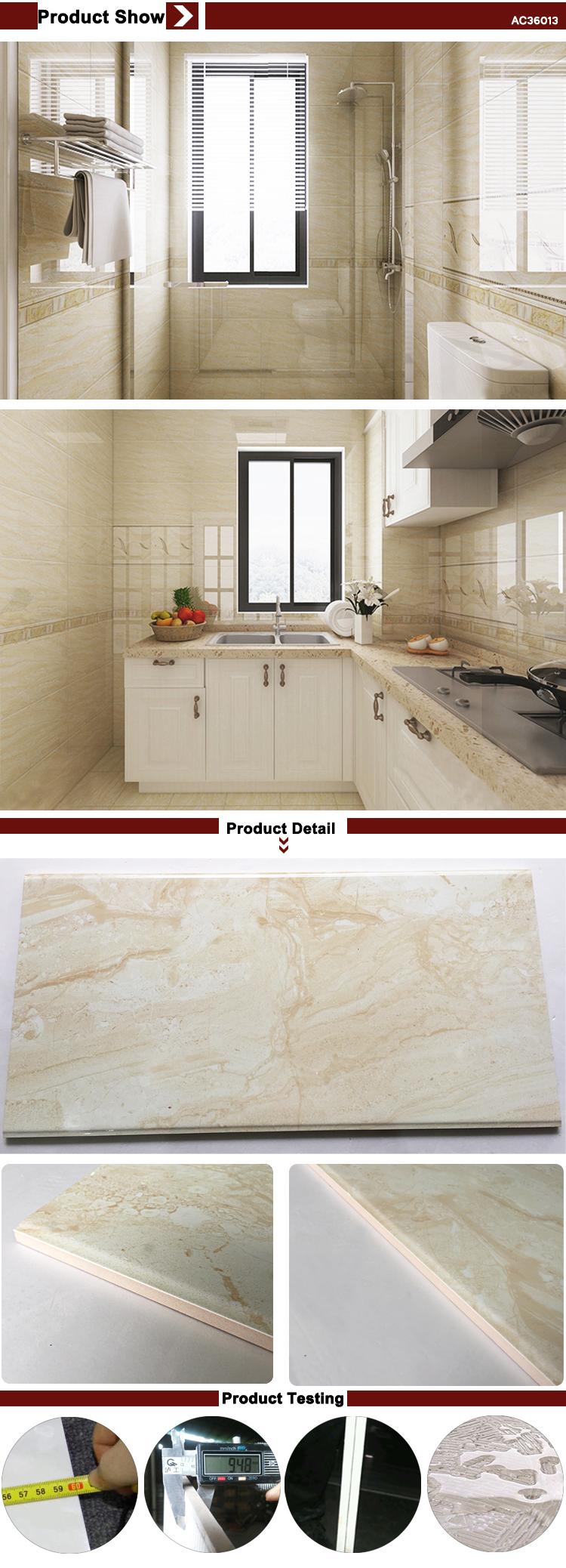 Free Sample Glazed Ceramic Marbles Tiles Front Wall Kitchen Bathroom ...