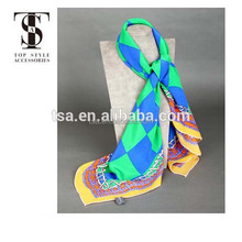rhombus pattern psychedelic world theme blank square silk scarves for dyeing wholesale