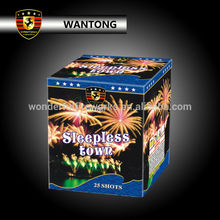 Outdoor 1.2'' 25 shots sleepless town cake consumer fireworks