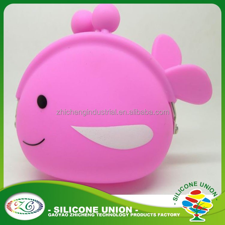 High quality cheap Pochi Silicone Coin Wallet/Silicone Squeeze Coin Purse
