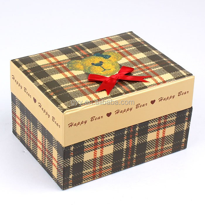 Teddy Bear Series Cardboard Packaging Box, Paper Gift Box, Custom Cardboard Box