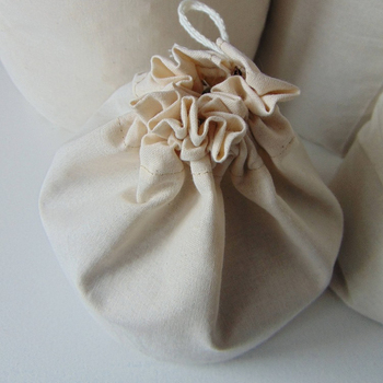 natural unbleached cotton fabric storage reusable grocery favor drawstring bag