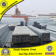 Ms Schedule 40 Hot Dipped Galvanized Hollow Section Square And Rectangular Steel Pipe