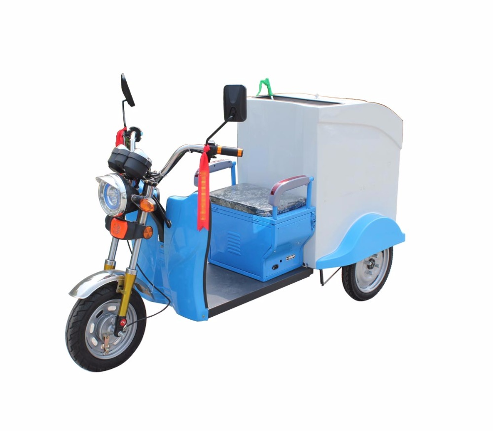 3 Wheels motorcycle garbage tricycle for sanitation using Mini Electric Tricycle