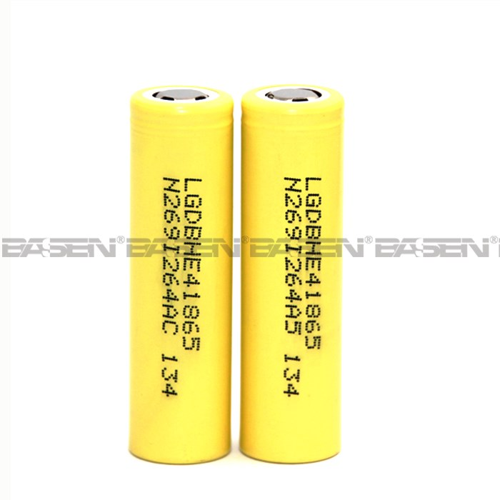 High quanlity rechargeable li ion battery 18650 3.7v 2500mah li-ion battery 3.7v lg he4 with reasonable price