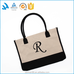 High Quality Fashion Standard Size Blank Canvas Tote Bag Wholesale