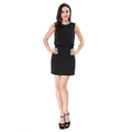 Short Sleeve Fancy Lady Little Black Dress