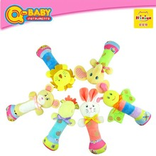 Factory Supply 2017 Newest Designs infant baby toys Plush Animal baby rattles