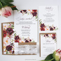 Boho Watercolor Floral Wedding Invitations