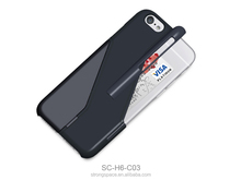 Plastic wallet case for iphone 6 lcd by China
