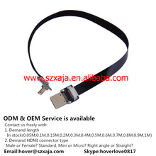 24k gold plated hdmi cable 1.4v Support 3D, Ethernet,4k*2k, Audio return channel