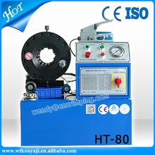 HT-80 China CE TUV hydraulic hose assembles crimping machine price/hose crimper for sale