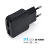 Safe Home Product DC 5V 1000mA Dual Micro USB Mobile Travel Charger AC 110V-240V