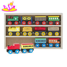 Top fashion magnetic wooden toy train sets for kids collection W04A369