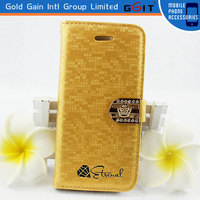 2014 Newest Water Cube Megnetic Flip Cover For Samsung S5, Soft TPU Leather Flip Case For Galaxy S5