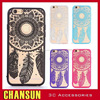 with anti dust cap hollow flower print TPU PC case cover for iphone 6