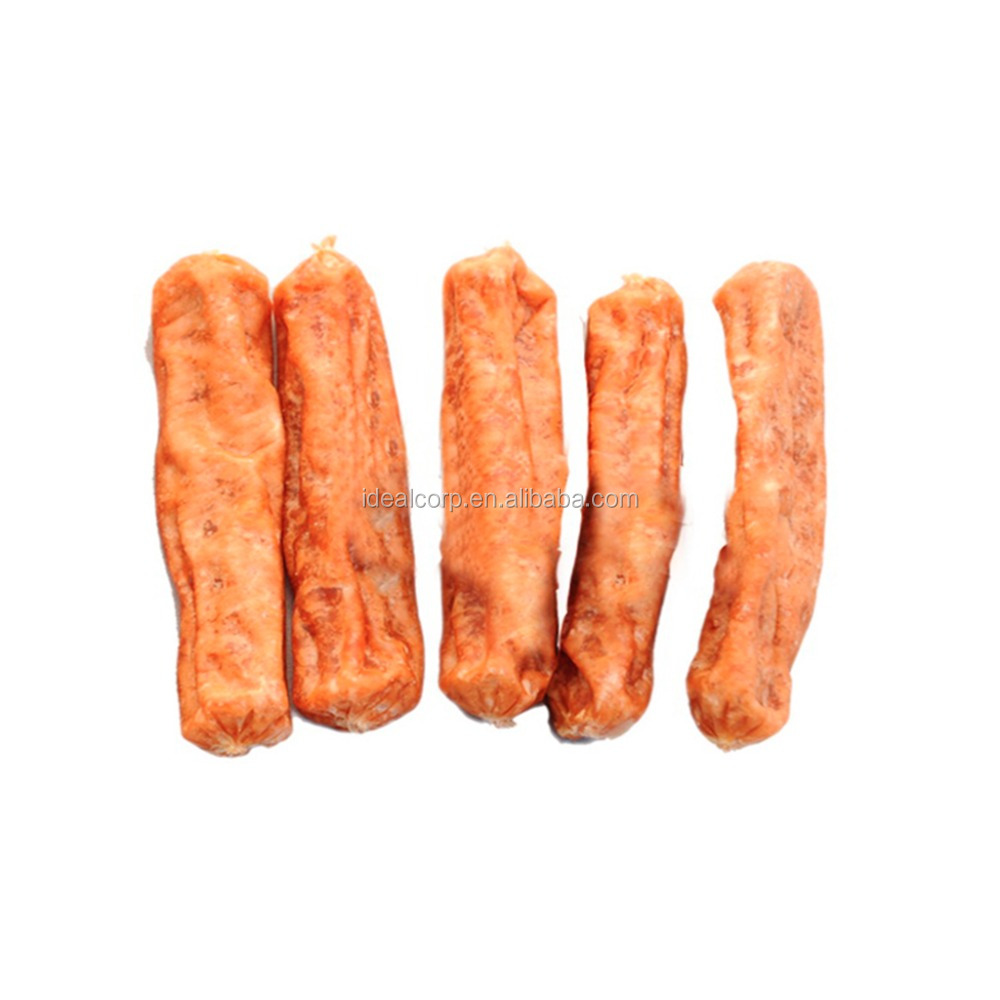 chicken sausage china factory dog snacks pet chews
