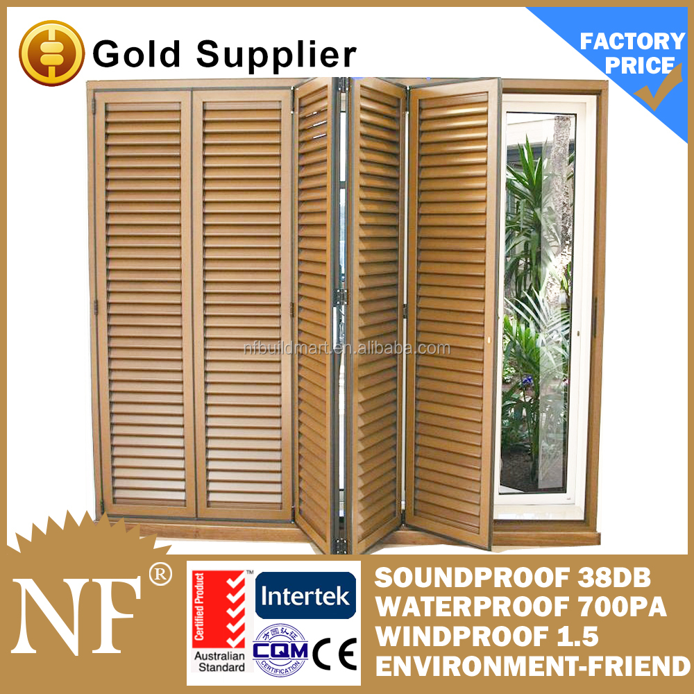 aluminum interior bi-fold window shutters