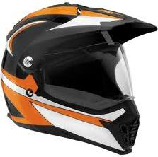 SparX Nexus Graphics Dual Sport Motorcycle Helmet - Octane Black/Orange TR
