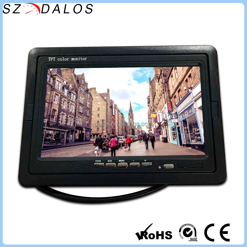 12V-24V 800*480 Car Headrest 7 inches tft lcd color monitor wiring