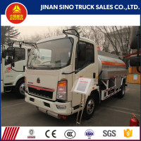 HOWO light truck 4x2 5000 liters capacity fuel tank truck