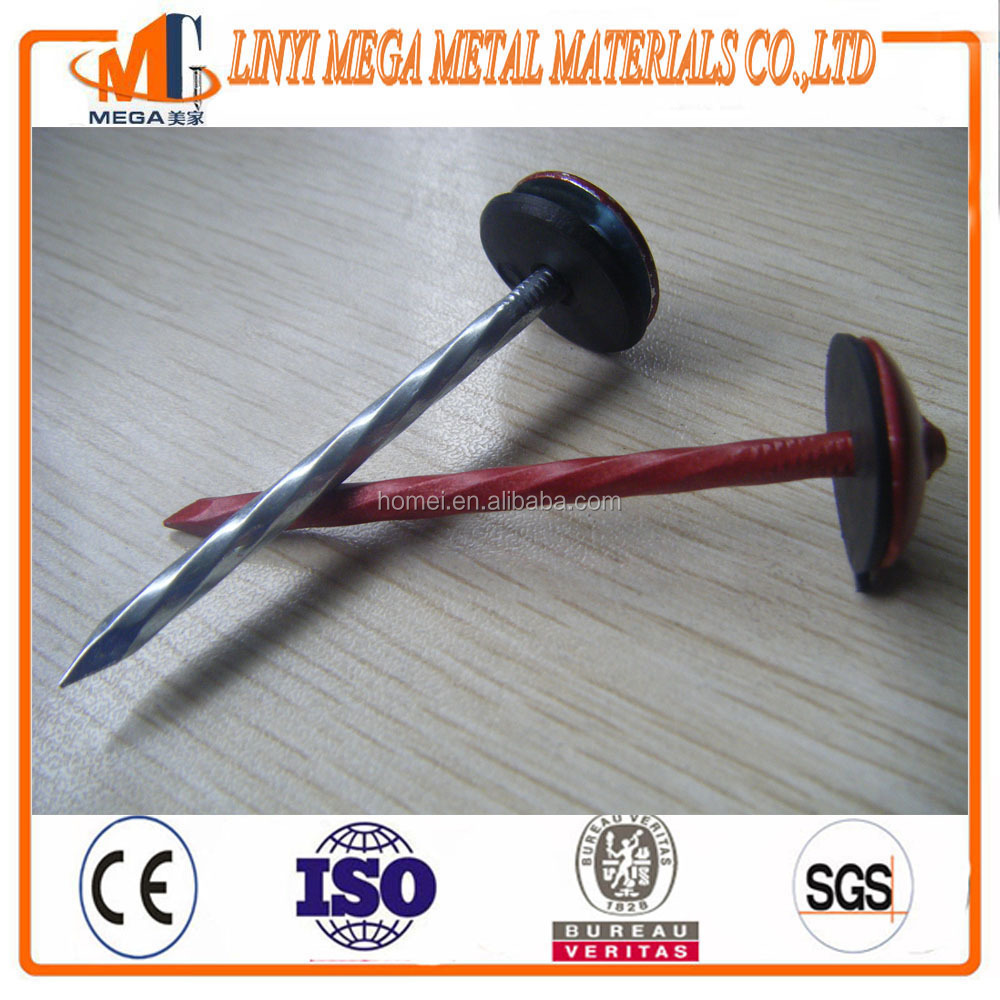 china nails supplier rubber washer roofing nails with washer