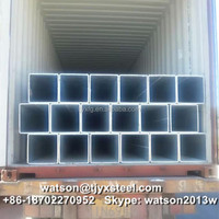 Weight ms square pipe hot dipped galvanized coating