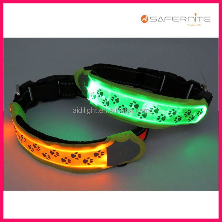 Reflective led dog collar cover glow band be safe