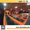 Happy Zone Customized Big Commercial Free Jumping Indoor Trampoline Park with Ninja Warrior Course Foam Pit