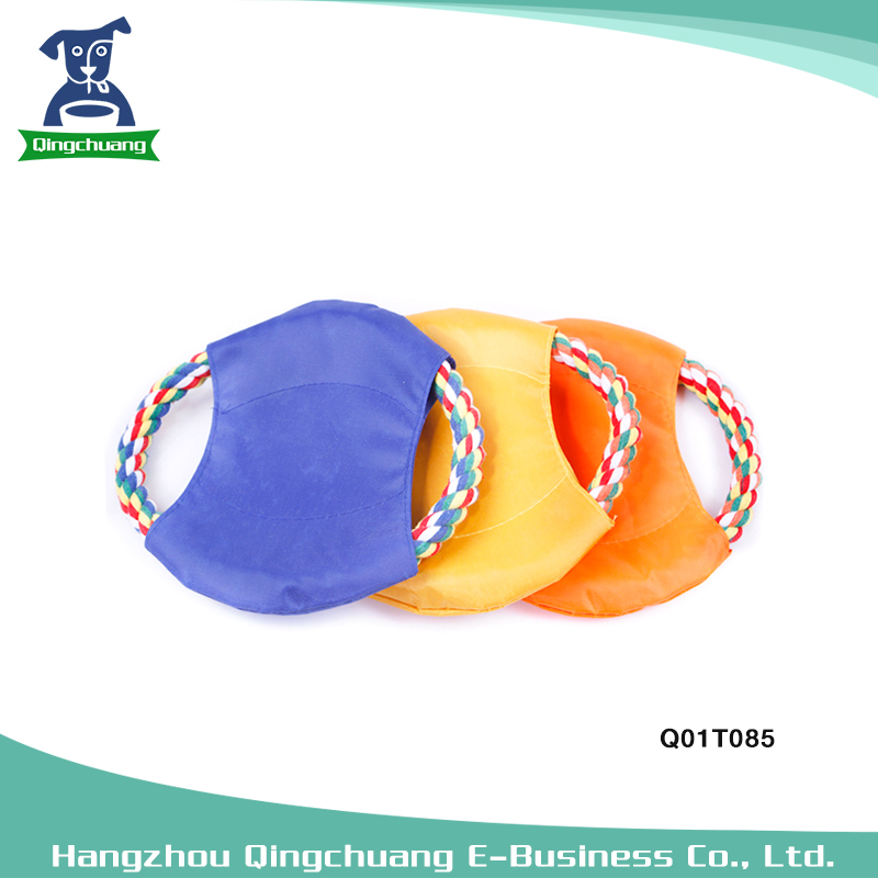 Interactive Dog Toys Flying Disc Rope Dog Frisbee