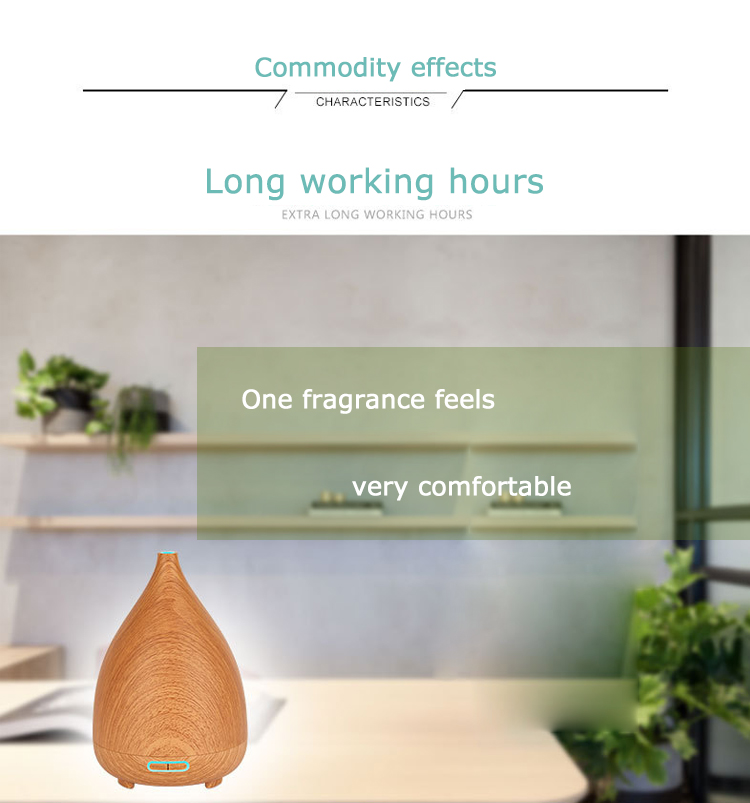 200ML Wood Grain Ultrasonic Aromatherapy Humidifier Essential Oil Aroma Diffuser