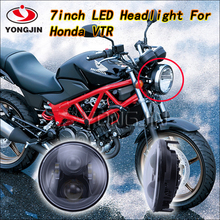 2016 New Arrival 1 pcs 7 Inch Round LED Headlights 75W Hi/ Lo 7500LM Headlight for honda