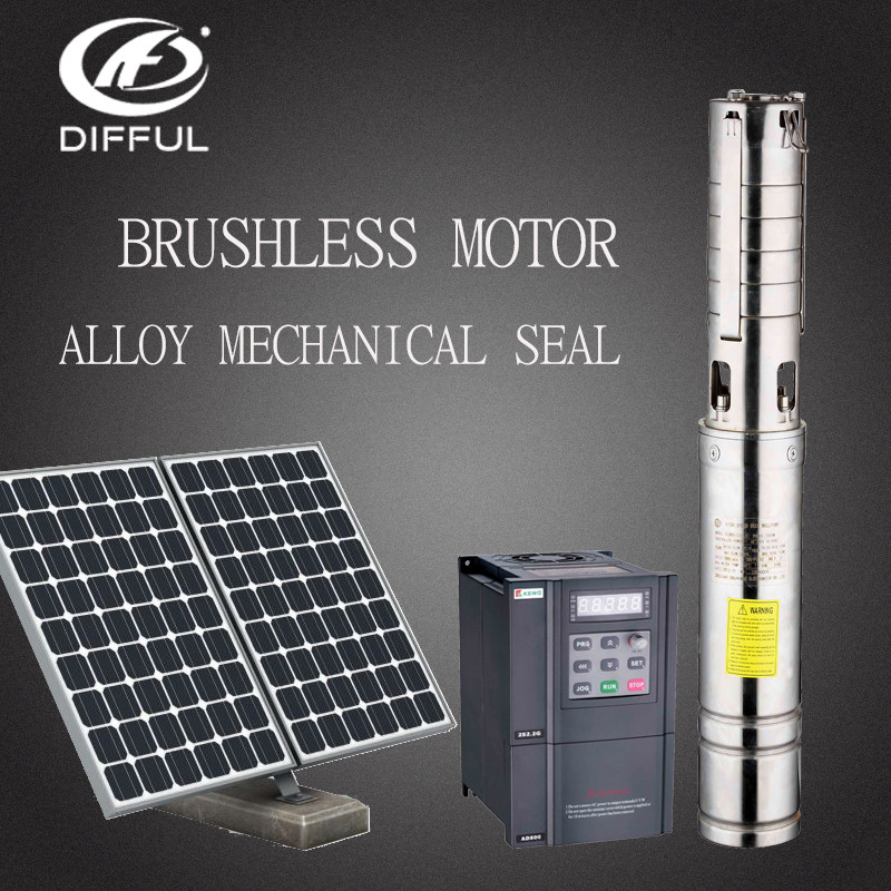 Dc/ac Submersible Solar Water Pump For Irrigation Water Pump