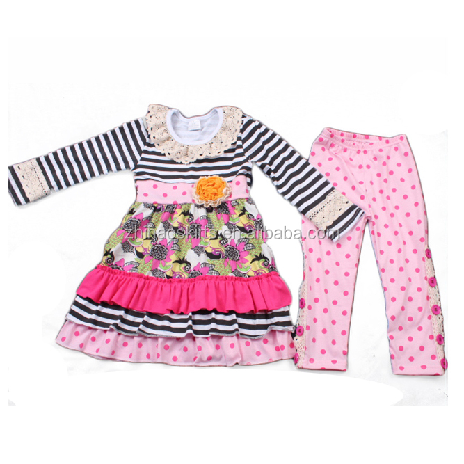 high quality cute girls black stripe top lace ruffle blank adult size newborn baby winter clothes