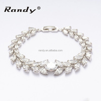 Latest Luxury Chain Link Jewelry Fashion Adjustable Chain Zircon Bracelet