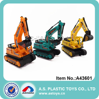 Promotional mini plastic construction robot toy trucks for kids