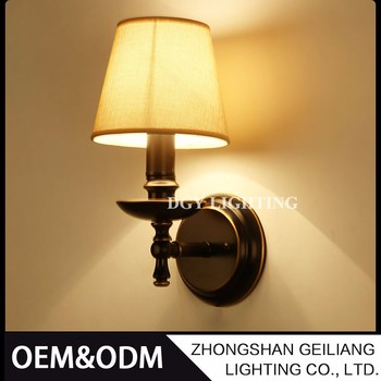 hotel resturant bed room american village led wall reading lamp
